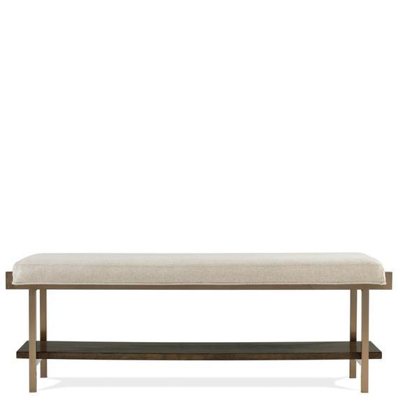 Riverside - Monterey - Upholstered Bed Bench - Mink Finish
