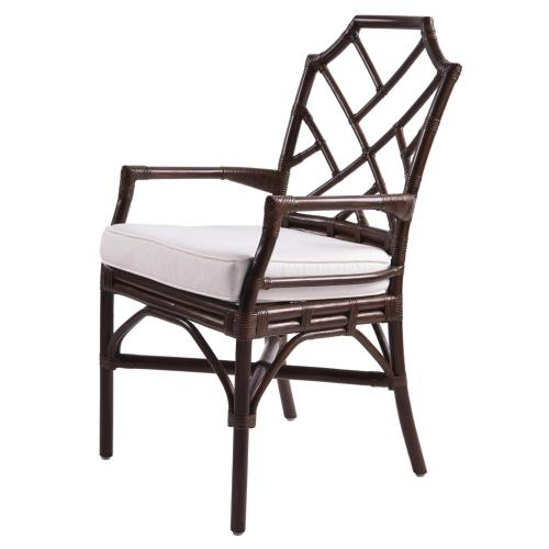 Kara Rattan Arm Chair, Paloma Brown