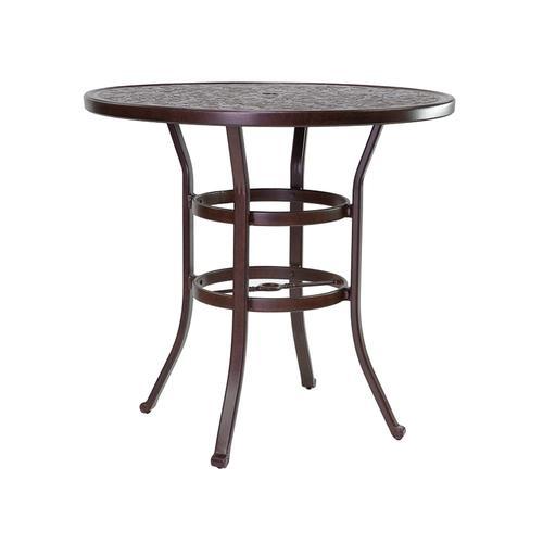 "Castelle - 44"" Vintage Round Bar Height Table"