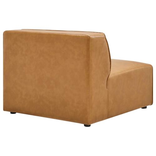 Modway - Mingle Vegan Leather Armless Chair in Tan