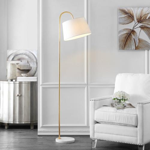 Dacey Floor Lamp - Gold Leaf / White