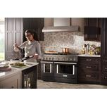 Kitchenaid KitchenAid® 48'' Smart Commercial-Style Dual Fuel Range with Griddle - Imperial Black