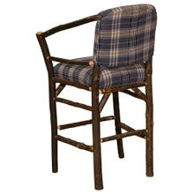 """Product Image - Hoop Counter Stool - 24"""" high - Natural Hickory - Standard Fabric"""