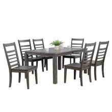 See Details - Dining Set - Shades of Gray (7 Piece)