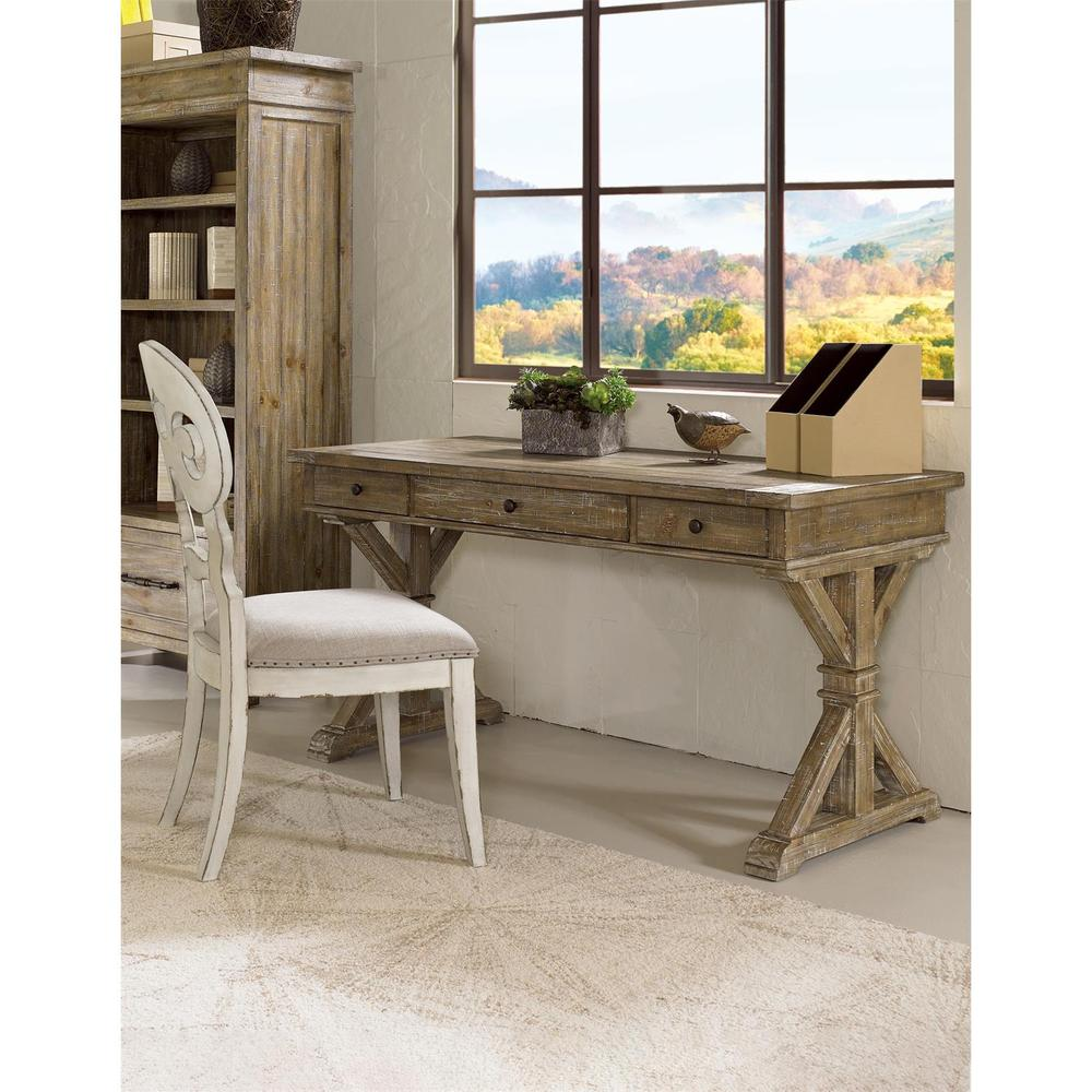 See Details - Mix-n-match Chairs - Scroll Back Upholstered Side Chair - Chipped White Finish