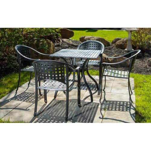 Milano Aluminum Stackable Cafe Chair