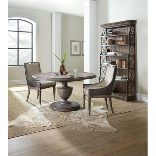 Woodlands 48in Round Dining Table w/ 2-12in Leaves