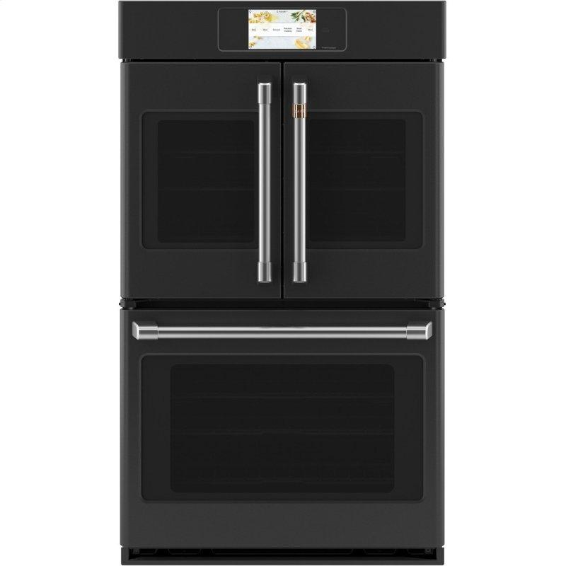 """Caf(eback) Professional Series 30"""" Smart Built-In Convection French-Door Double Wall Oven"""