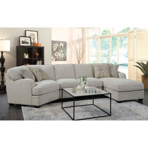 Emerald Home Analiese Chaise Sectional Ivory U4315-29-19