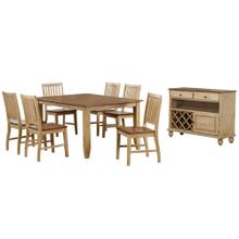 See Details - Extendable Table Dining Set w/Server (8 piece)