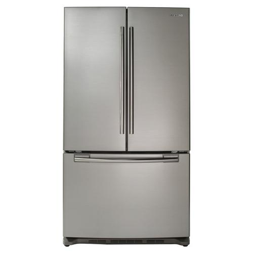 Samsung - Refurbished 26 cu. ft. French Door Refrigerator.  (This is a Stock Photo, actual unit (s) appearance may contain cosmetic blemishes.  Please call store if you would like actual pictures).  This unit carries our 6 month warranty, MANUFACTURER WARRANTY and REBATE NOT VALID with this item. ISI 44342