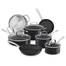 Hard Anodized Non-Stick 11-Piece Cookware Set - Black Sapphire
