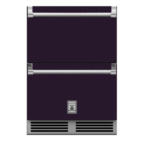 "24"" Hestan Outdoor Refrigerator Drawers - GRR Series - Lush"