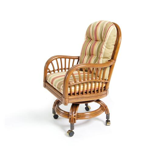Boca Rattan - Amarillo Game Chair With Casters