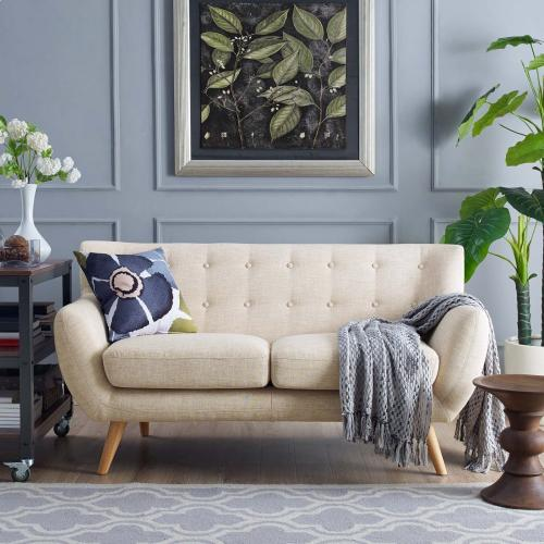 Modway - Remark Upholstered Fabric Loveseat in Beige