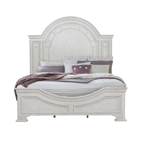 Glendale Estates King / California King Transom Panel Bed Footboard and Slats