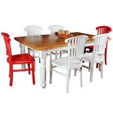 See Details - Cottage Dining Set - Whitewashed (7 piece)