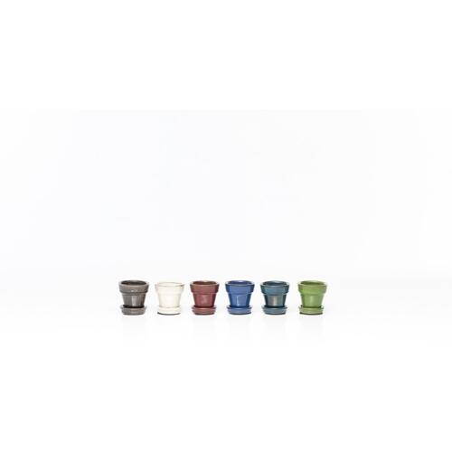 "Group Dynamics 3"" Petits Pots w/ att saucer Assortment (6 colors, 6 each)"