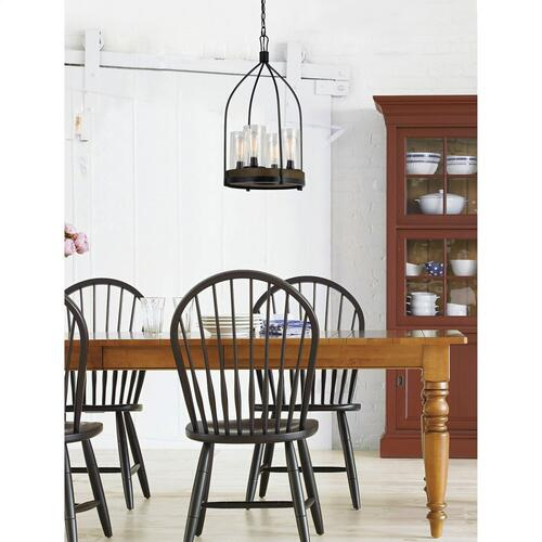 60W X 4 Chardon Metal/Wood Fixture(Edison Bulbs Not included)