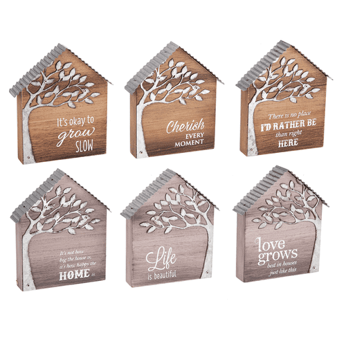 Live Beautifully House Plaques (6 pc. ppk.)