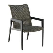 Aston Stackable Wicker Cast Dining Arm Chair