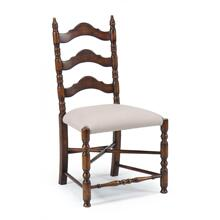 Oak ladder back country chair (Side)