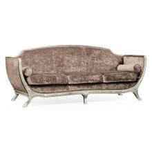 Empire style sofa (Silver leaf/Velvet Truffle)