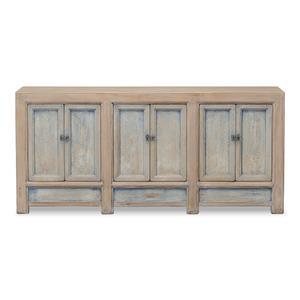 Gansu Sideboard, 6 Door, Pine