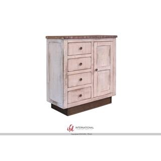 See Details - 4 Drawers, 1 door Console - White Finish