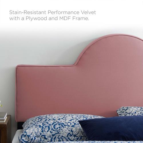 Dawn Full/Queen Performance Velvet Headboard in Dusty Rose