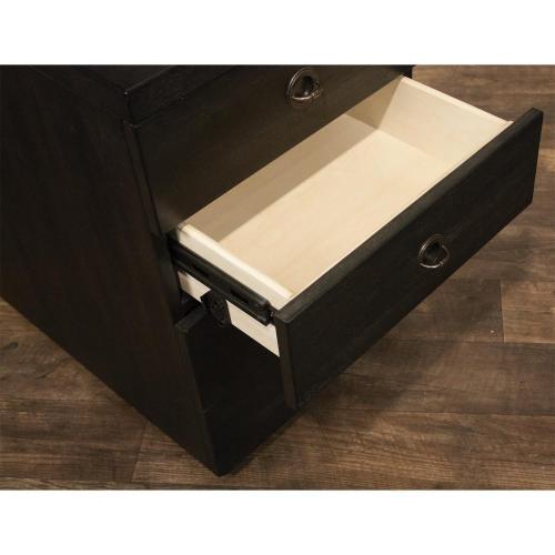 Riverside - Perspectives - Mobile File Cabinet - Ebonized Acacia Finish