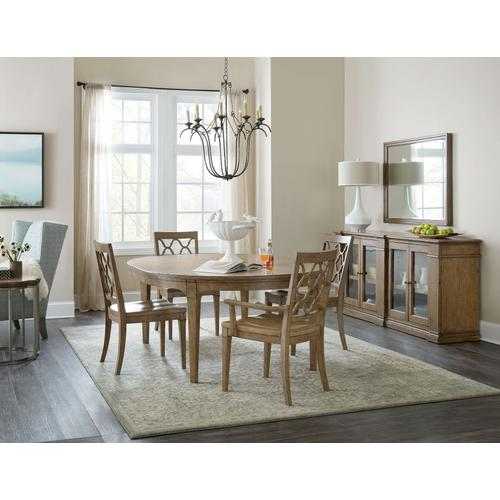 Product Image - Montebello 56in Round Dining Table w/ 1-18in leaf
