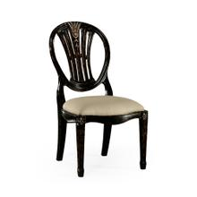 Hepplewhite Wheatsheaf Side Chair (Black)