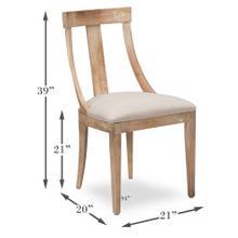 Deco Side Chair,Antique Oak,Linen Flax