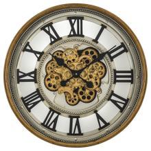 Gold Gear Clock