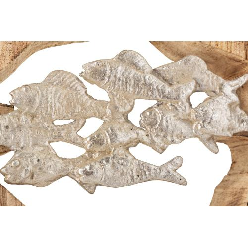Monza Wood and Aluminum Fish Statuary