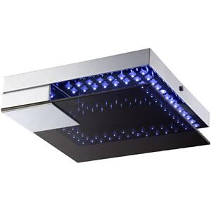 LED Flush Mount, Chrome/glass Diffuser, Type LED 0.03WX72