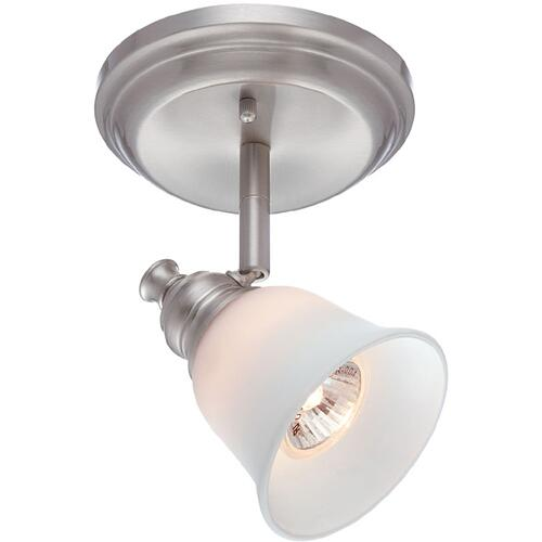 1-lite Wall/ceiling Lamp, Ps/frost Glass Shade, Gu10 35w