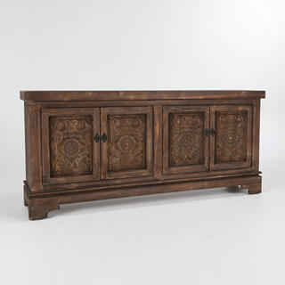 See Details - Amita 4Dr Sideboard Brown Stone