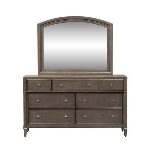 King Opt California Panel Bed, Dresser & Mirror, Chest, N/S
