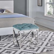 See Details - Intersperse Ottoman in Sea Blue