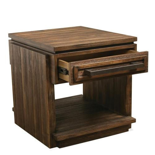 Modern Gatherings - Side Table - Brushed Acacia Finish