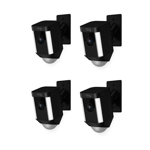 4-Pack Spotlight Cam Mount - Black