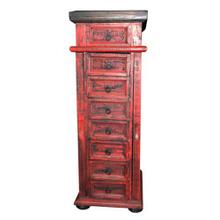 Red Jewelry Chest Side Door