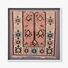 0307690093 Vintage Rug Fragment Wall Art