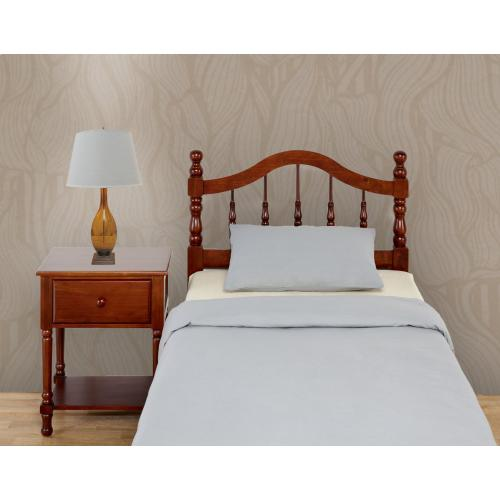 Mantua Bed Frames - Twin Traditional Style Headboard in Cherry Finish