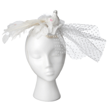 See Details - Dove Hat with Tulle.