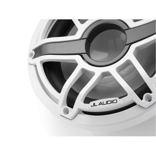 JL Audio - 10-inch (250 mm) Marine Subwoofer Driver, Gloss White Trim Ring, Gloss White Sport Grille, 4