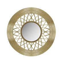 "Metal 28"" Weave-like Mirror, Gold Wb"
