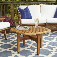 Saratoga Outdoor Patio Teak Coffee Table in Natural